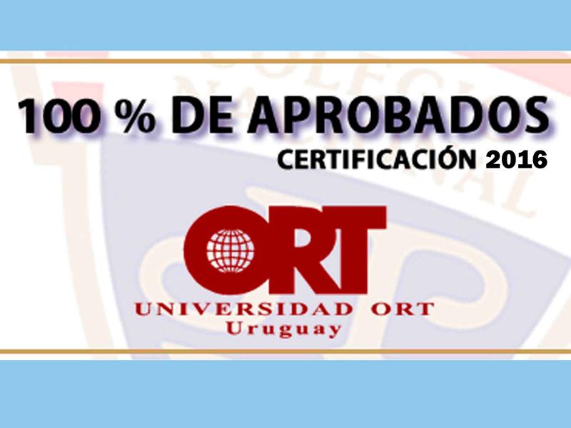 Certificación en ORT
