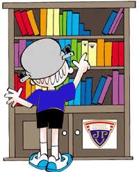 Devolución de libros a biblioteca.