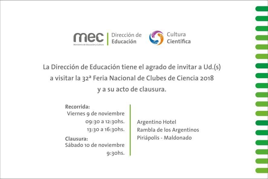 32ª Feria Nacional de Clubes de Ciencia 2018