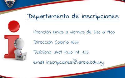 Departamento de Inscripciones