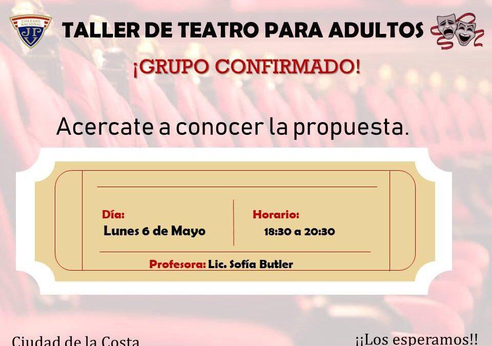 Taller de teatro para adultos.