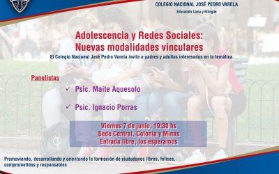 Charla Adolescencia y Redes Sociales: Nuevas modalidades vinculares