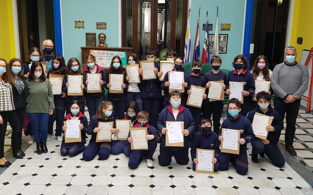 Entrega de diplomas PRELIMINARY TEST/PETS – B1